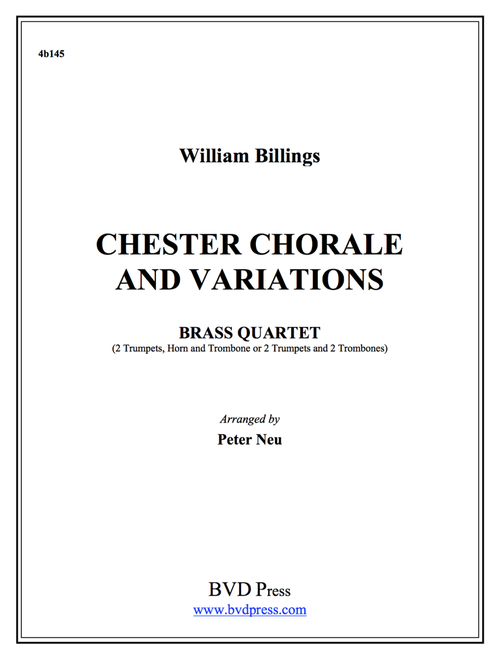 Chester Chorale and Variations for Brass Quartet (Billings/Neu) PDF Download