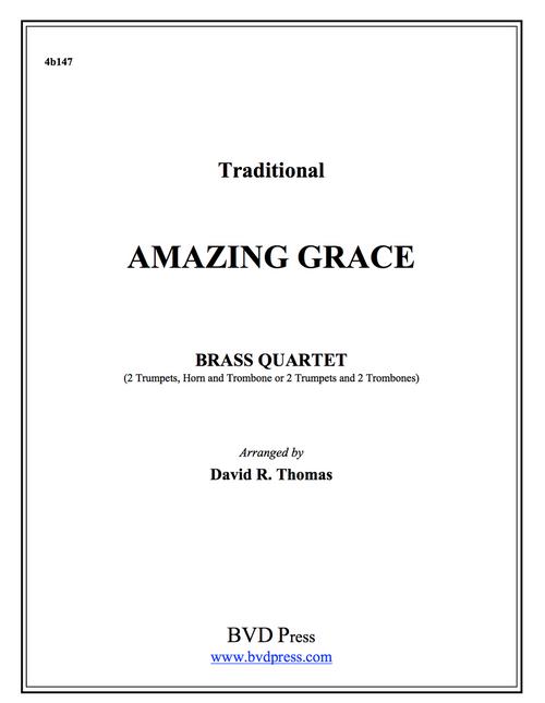 Amazing Grace Brass Quartet (Trad./Thomas) PDF Download