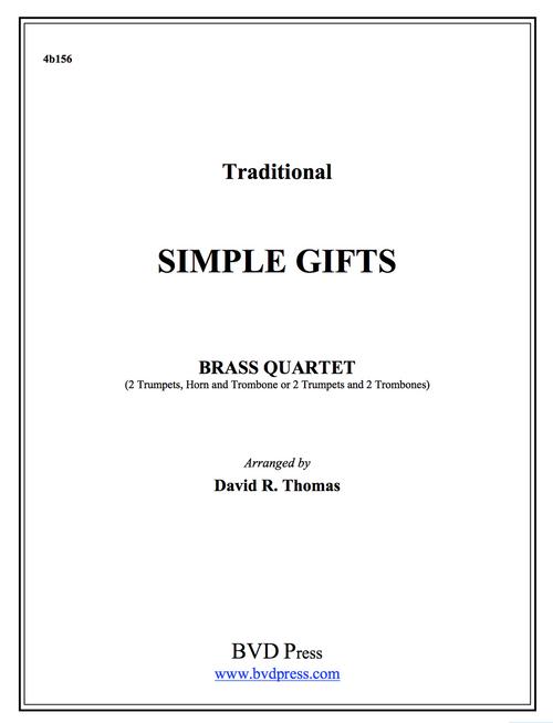 Simple Gifts Brass Quartet (Trad./Thomas) PDF Download