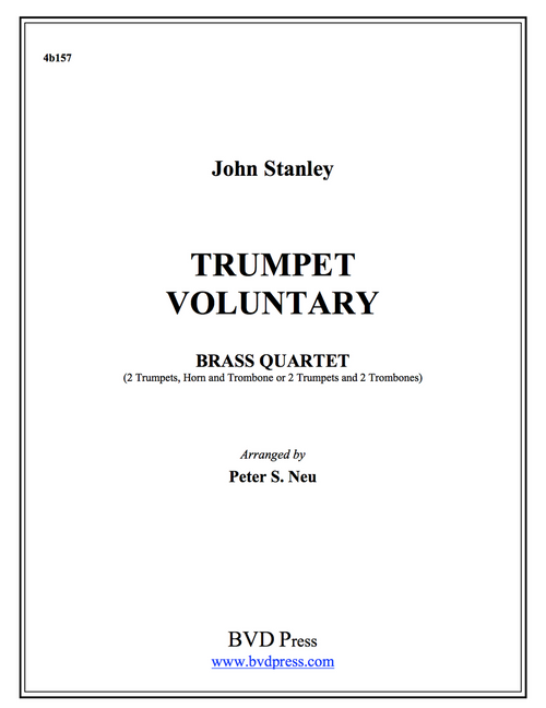 Trumpet Voluntary Brass Quartet (Stanley/Neu) PDF Download