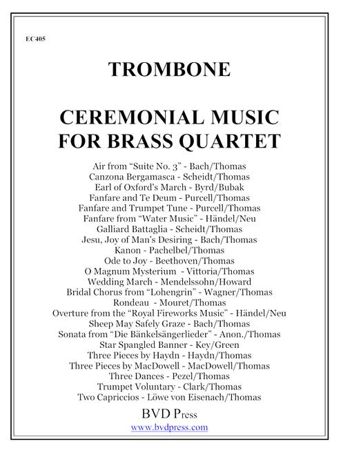 Ceremonial Music for Brass Quartet Trombone PDF Download