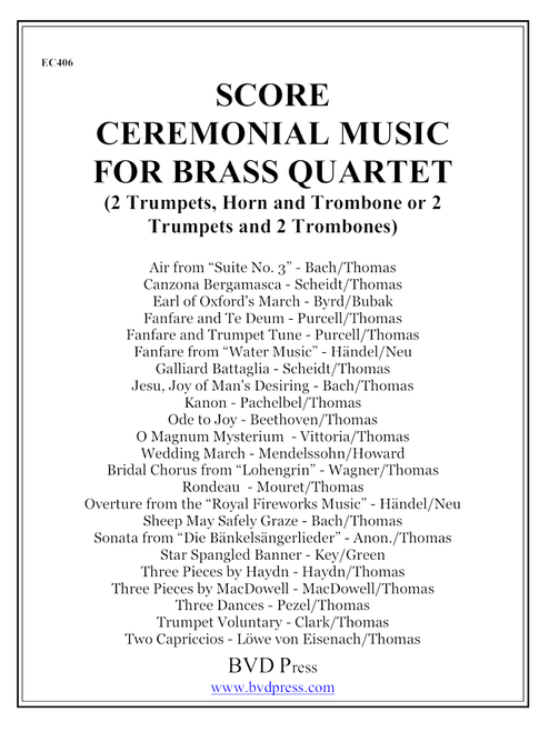 Ceremonial Music for Brass Quartet Complete Score and Parts PDF Download