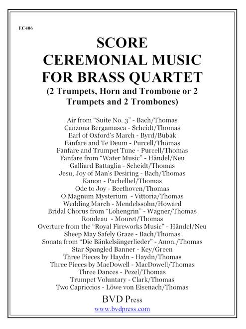 Ceremonial Music for Brass Quartet Complete Score and Parts PDF Download