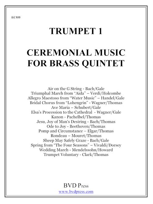 Ceremonial Music for Brass Quintet Trumpet 1 PDF Download