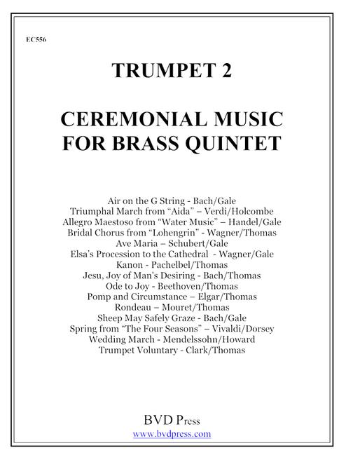 Ceremonial Music for Brass Quartet Trumpet 2 PDF Download - Canadian