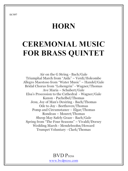 Ceremonial Music for Brass Quintet Horn PDF Download