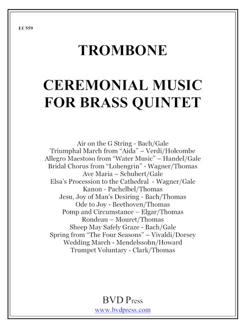 Ceremonial Music for Brass Quintet Trombone PDF Download