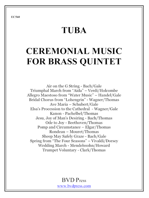 Ceremonial Music for Brass Quintet Tuba PDF Download