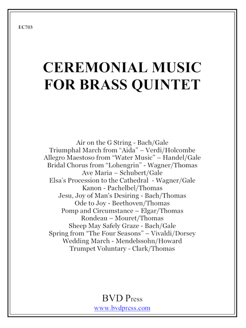 Ceremonial Music for Brass Quintet Complete Score and Parts PDF Download