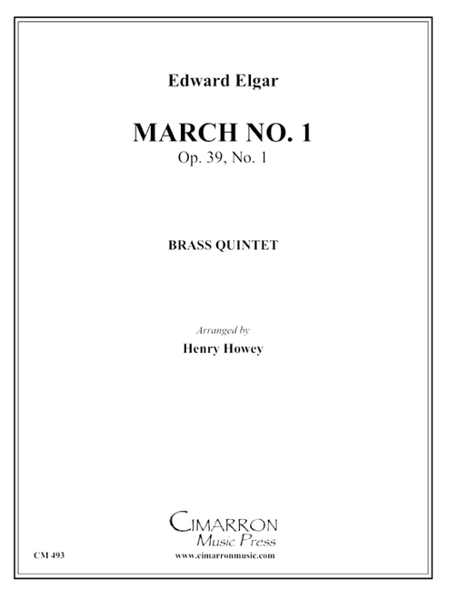 March No. 1, Op. 39 No. 1, (Pomp & Circumstance) Brass Quintet (Elgar/arr. Howey) PDF Download
