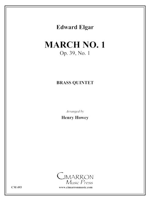 March No. 1, Op. 39 No. 1, (Pomp & Circumstance) Brass Quintet (Elgar/arr. Howey) PDF Download