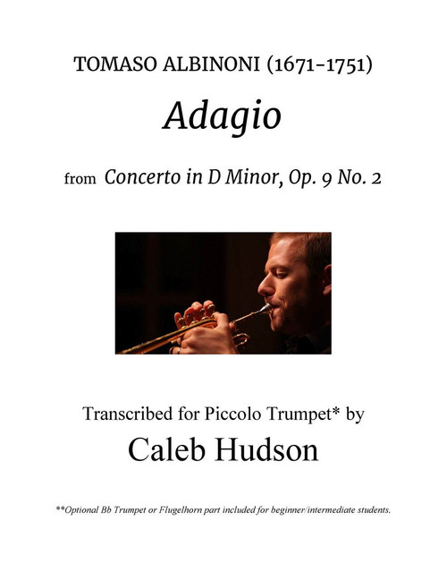 Albinoni's Adagio Transcribed for Trumpet, Piano and Optional Cello (arr. Caleb Hudson) PDF Download