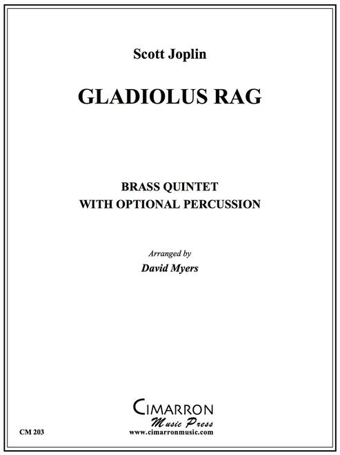 Gladiolus Rag Brass Quintet w/Optional Percussion (Joplin/Myers) PDF Download