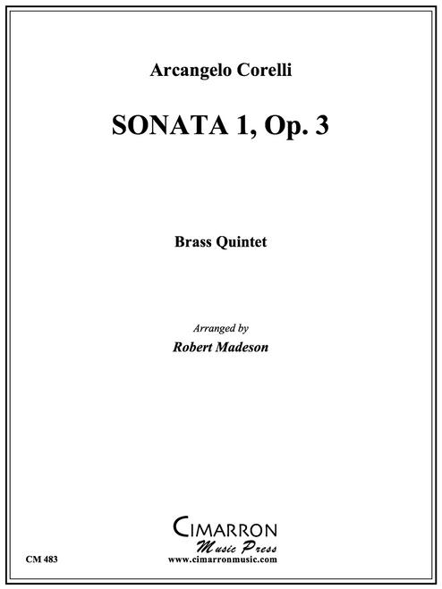 Sonata 1, Op. 3 Brass Quintet (Corelli/Madeson) PDF Download