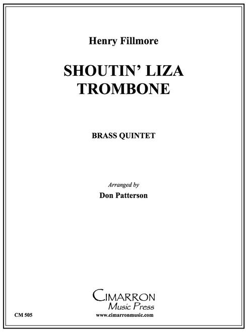 Shoutin' Liza Trombone Brass Quintet (Fillmore/arr. Patterson) PDF Download