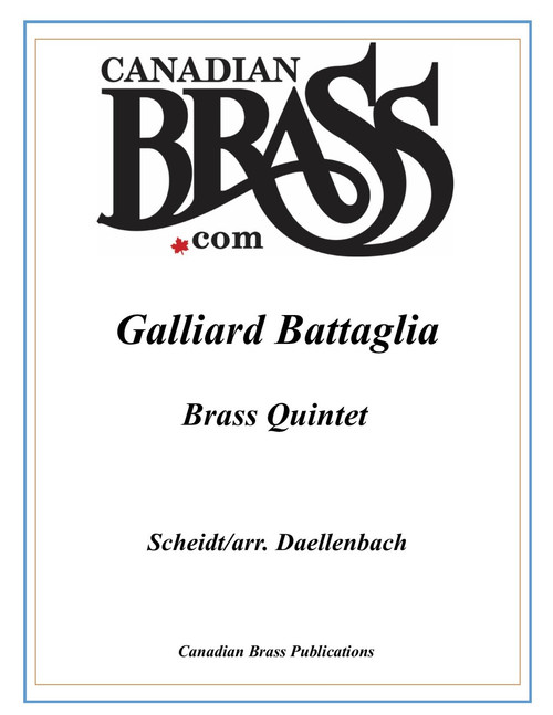 Galliard Battaglia Brass Quintet (Scheidt/Daellenbach) PDF Download