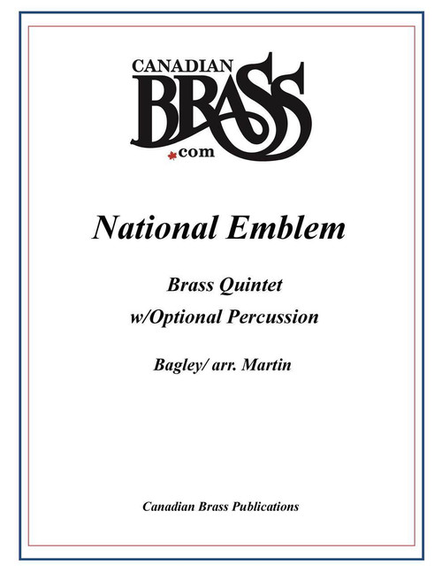 National Emblem Brass Quintet w/Optional Percussion (Bagley/arr. Martin) PDF Download