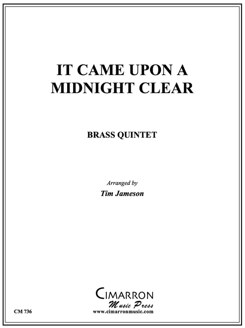 It Came Upon a Midnight Clear Brass Quintet (Trad./arr. Jameson)