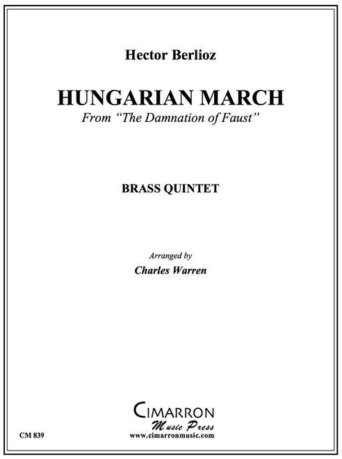 """Hungarian March from """"The Damnation of Faust"""" Brass Quintet (Berlioz/arr. Warren) PDF Download"""