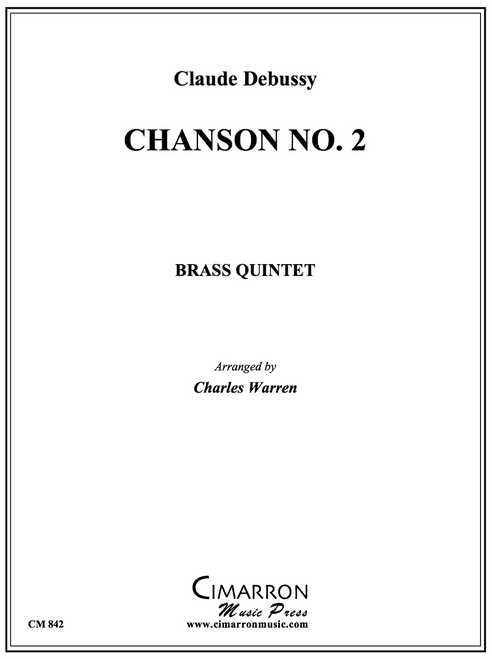 Chanson No. 2 Brass Quintet (Debussy/arr. Warren) PDF Download