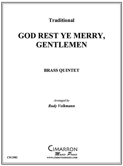 God Rest Ye Merry Gentlemen Brass Quintet (Trad./arr. Volkmann)