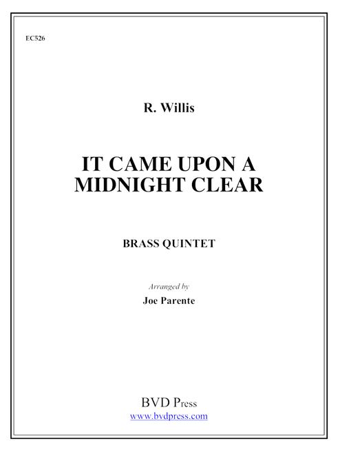 It Came Upon a Midnight Clear Brass Quintet (Trad./arr. Parente) PDF Download