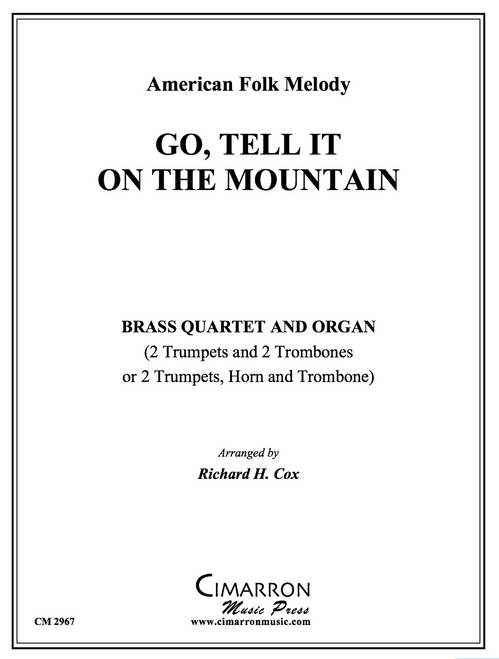 Go Tell It On the Mountain Brass Quartet and Organ (Trad./arr. Cox) PDF Download