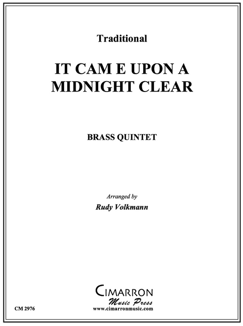 It Came Upon A Midnight Clear Brass Quintet (Trad./arr. Volkmann) PDF Download
