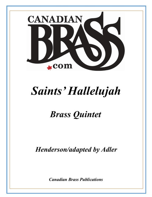 Saints' Hallelujah Brass Quintet (Henderson/Adler) PDF Download