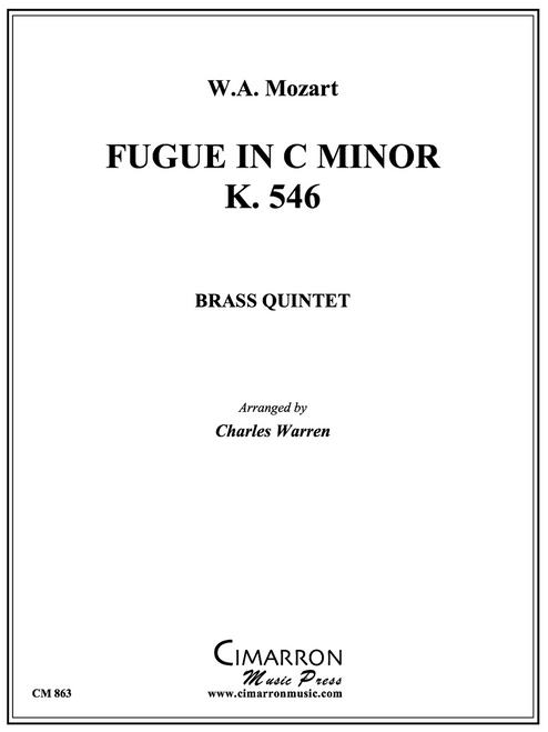 Fugue in C Minor, K. 546 Brass Quintet (Mozart/arr. Warren) PDF Download