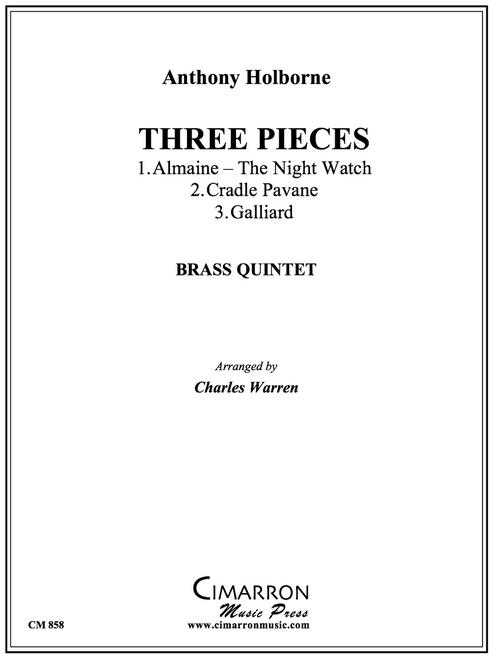 Three Pieces (Alamaine, Pavane and Galliard) Brass Quintet (Holborne/arr. Warren) PDF Download