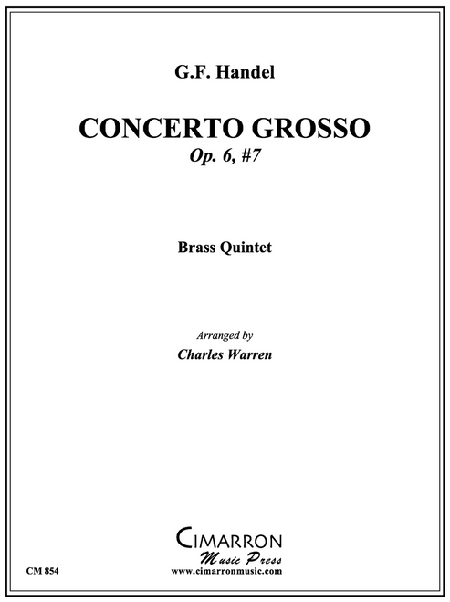 Concerto Grosso Op. 6, No. 7 Brass Quintet (Handel/Warren) PDF Download