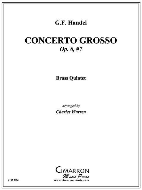 Concerto Grosso Op. 6, No. 7 Brass Quintet (Handel/Warren) PDF Download