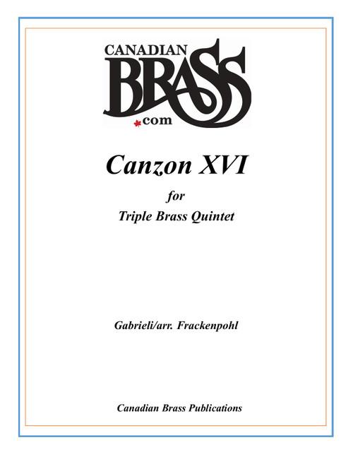 Canzon XVI  Triple Brass quintet (Gabrieli/ arr. Frackenpohl) archive copy