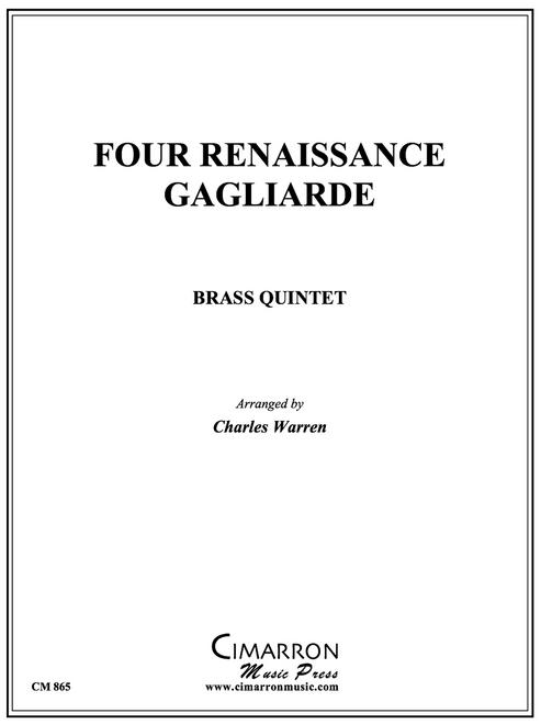Four Renaissance Gagliarde Brass Quintet (arr. Warren)
