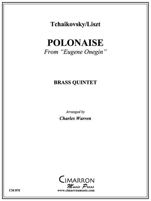 "Polonaise from ""Eugene Onegin"" for Brass Quintet (Tchaikovsky-Liszt/arr. Warren) PDF Download"