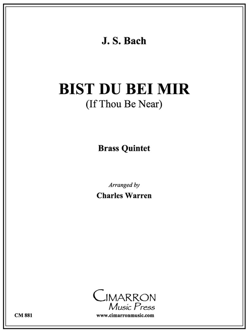 Bist Du Bei Mir for Brass Quintet (Bach/arr. Warren) PDF Download