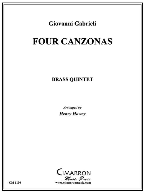 Four Canzonas for Brass Quintet (Gabrieli/arr. Howey) PDF Download