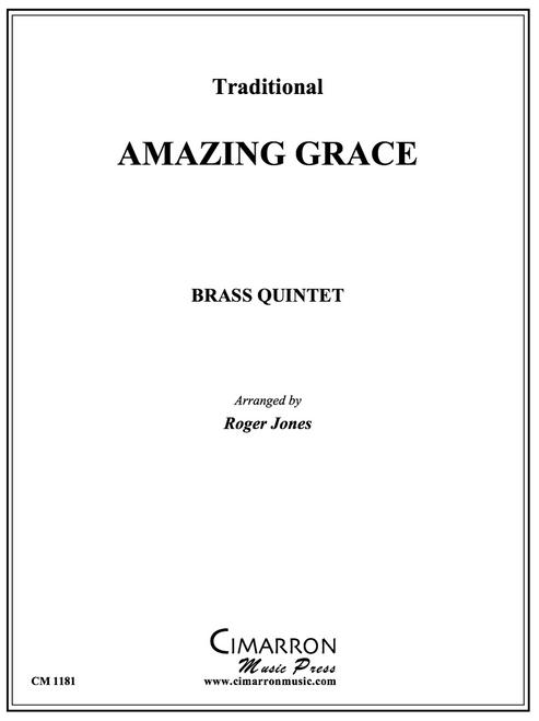 Amazing Grace for Brass Quintet (Trad./arr. Jones) PDF Download