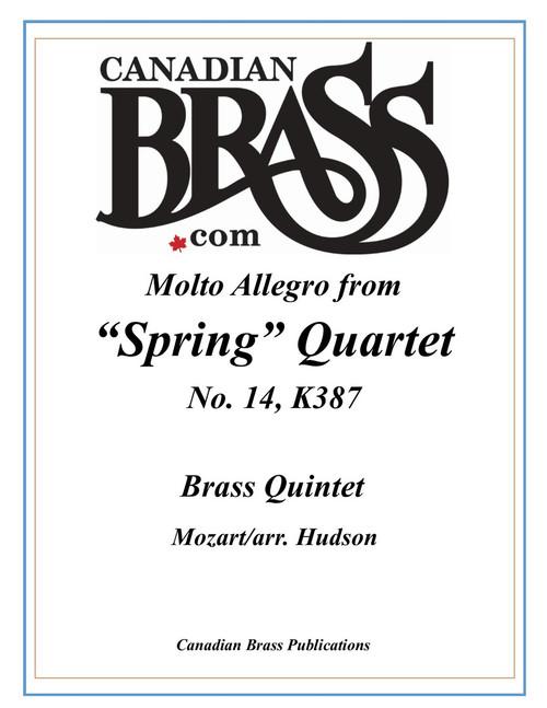 "Molto Allegro from ""Spring Quartet"" for Brass Quintet (Mozart/arr. Hudson)"