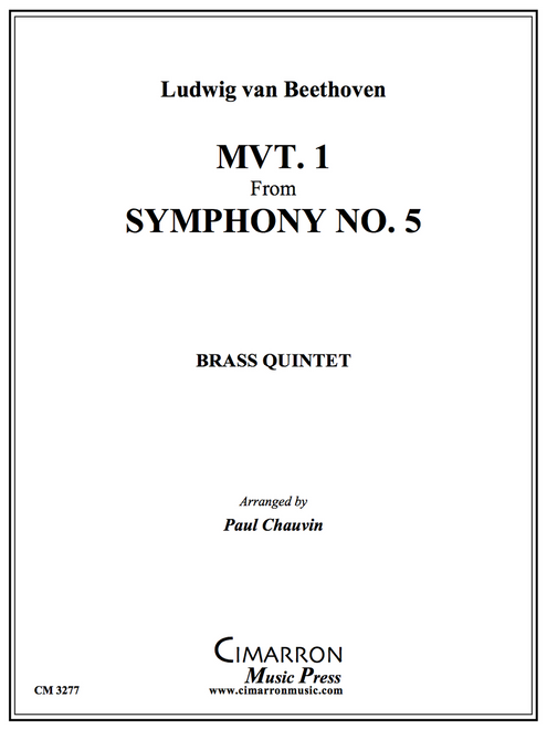 Movement 1 from Symphony No. 5 for Brass Quintet (Beethoven/arr. Chauvin) PDF Download