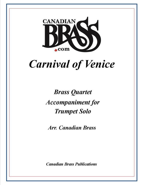 Carnival of Venice Brass Quartet accompaniment to Trumpet Solo PDF Download (order solo separately)