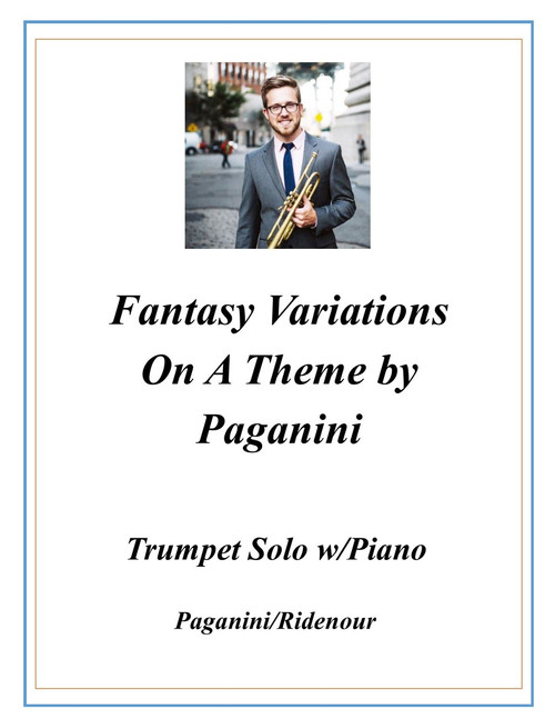 Fantasy Variations on a Theme by Paganini for Trumpet and Piano (Paganini/Ridenour) PDF Download