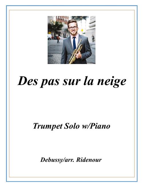 Des pas sur la neige adapted for Trumpet Solo and Piano (Debussy/arr. Ridenour) PDF Download