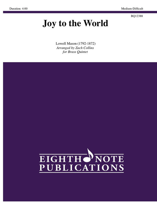 Joy to the World Brass Quintet (Mason/arr. Collins)