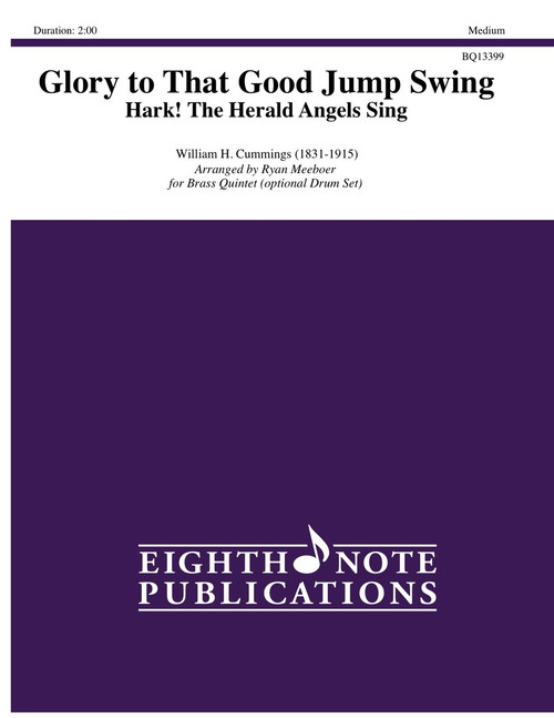 Glory to That Good Jump Swing (Hark the Herald) for Brass Quintet w/Optional Drum Set (Cummings/arr. Meeboer)