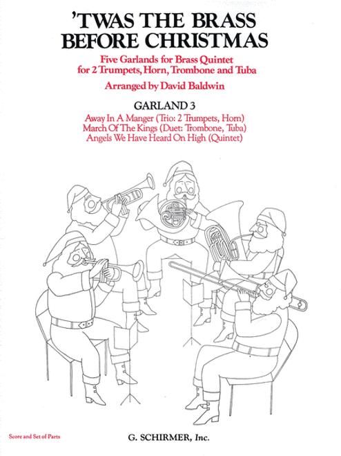'Twas the Brass Before Christmas for Brass Quintet; Garland 3 (Various/arr. Baldwin)