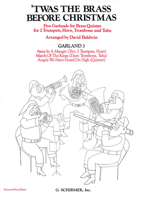'Twas the Brass Before Christmas for Brass Quintet; Garland 3 (Various/arr. Baldwin)