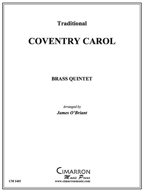 Coventry Carol for Brass Quintet (Trad./arr. O'Briant)