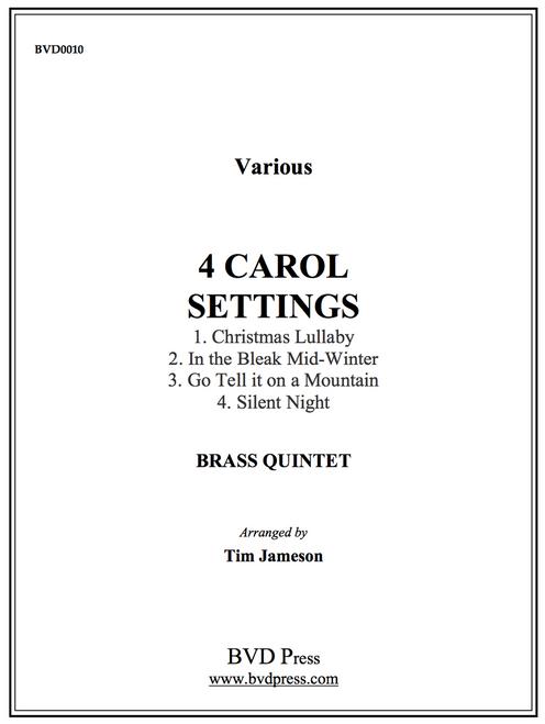 4 Carol Settings for Brass Quintet (Trad./arr. Jameson) PDF Download